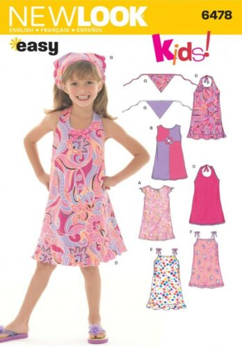 New Look Childrens Easy Sewing Pattern 6478 Dresses /& Head Scarf NewLook...