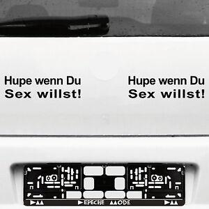 2-Pezzi-Hupe-Wenn-Du-Sex-Willst-22cm-Nero-Auto-Adesivo-Decorazione-Pellicola