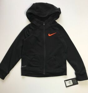 Details about NWT Nike Therma DRI FIT Full Zip Up Hoodie Jacket Black Sz 2T or 4T $48 CUTE!!
