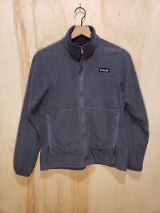 USA Made Patagonia Synchilla Steel Blue Fleece Full Zip Womens (S) Jacket VTG