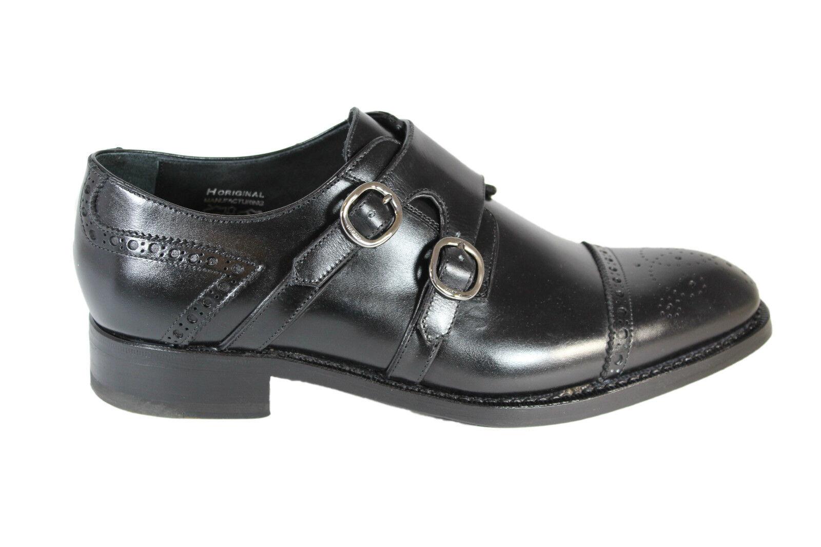 HARRIS leather con monk strap Scarpe eleganti con leather fibbie in pelle artigianali 140fa2