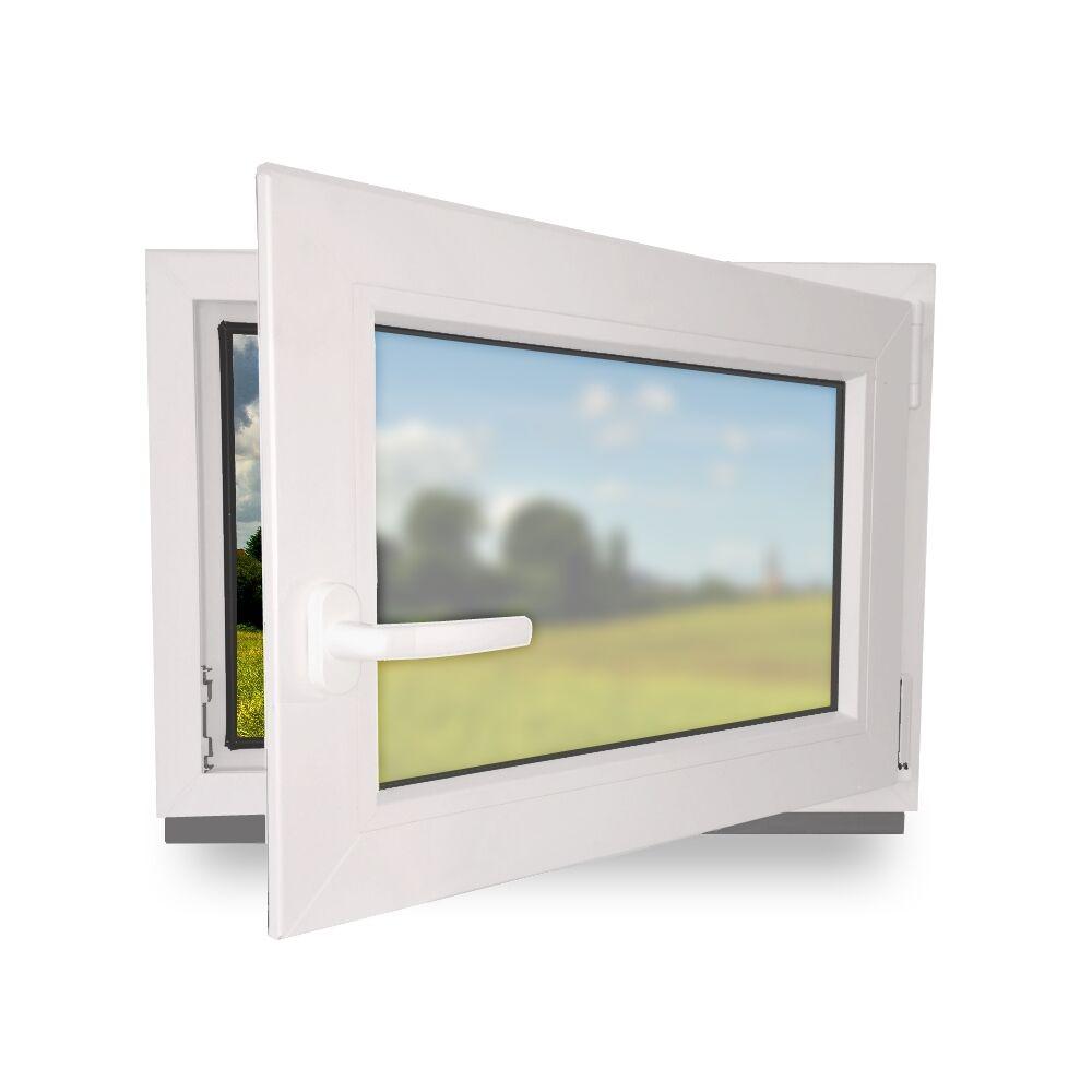Kunststofffenster Badfenster Garagenfenster Fenster Milchglas Satinato 3 Fach