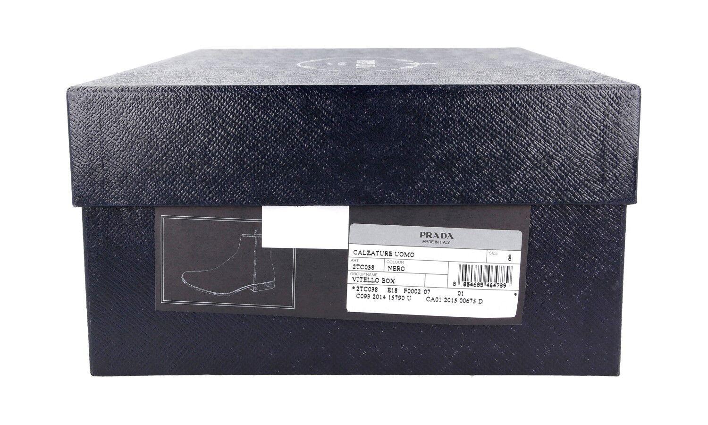 LUSSO autentici PRADA Half-Boot Scarpe 2TC038 NERO NERO NERO NUOVO 7 41 41,5 954b6f