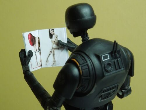 1//12 scale Custom Playboy Style Star Wars playdroid Magazine-No Pages Vierges