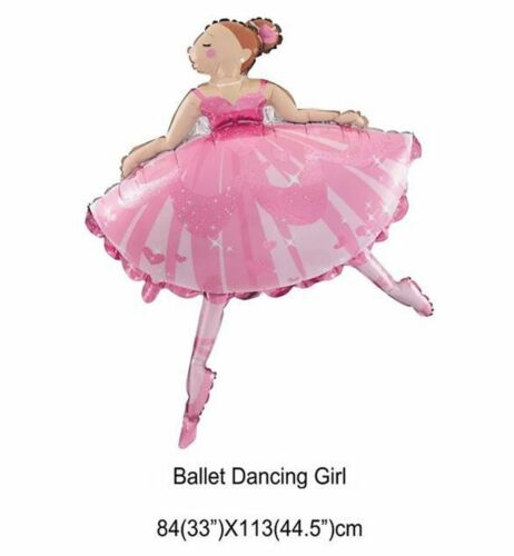Large 45`` 113cm Pink Ballet Dancing Girl Ballerina Foil Helium Air Balloon
