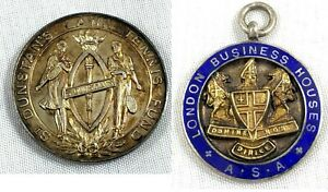 RARE-ST-DUNSTAN-039-S-LAWN-TENNIS-MEDAL-HALLMARKED-1930-AND-ONE-OTHER