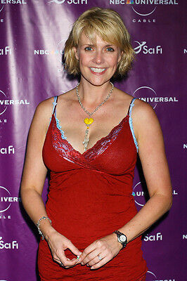 Amanda Tapping 11x17 Mini Poster Sexy Candid Huge Cleavage In Red