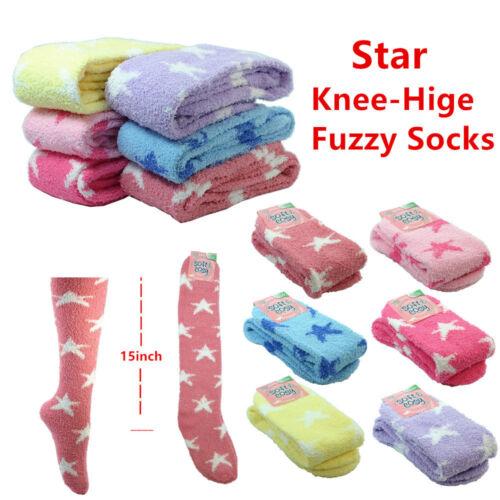 3~12pairs Women Winter Socks Cozy Fuzzy Home Slipper Fleece Ankle//Knee High Lot