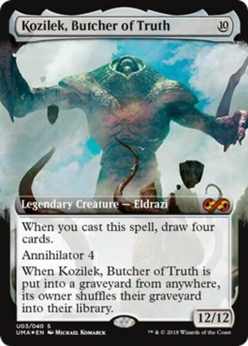 X1 Kozilek, Butcher of Truth - Foil MTG Ultimate Masters Box Toppers M M NM, Eng