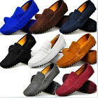 9 Color US Size 5-12 Leather Mens Slip On Driving Moccasin Loafers Flat Shoes