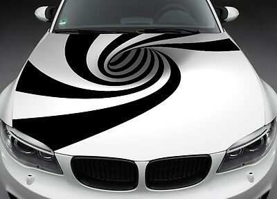 Abstract Full Color Graphics Adhesive Vinyl Sticker Fit any Car Bonnet #016