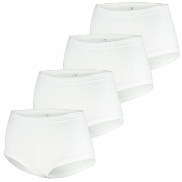 4er Pack Schiesser Damen Slips, Taillenslips, Feinripp, Unterhosen, Unterwäsche