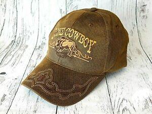 cce86ca4c0e6c4 Das Bild wird geladen Basecap-mit-Stickerei-Bueffel-Lone-Cowboy-Western -Muetze-