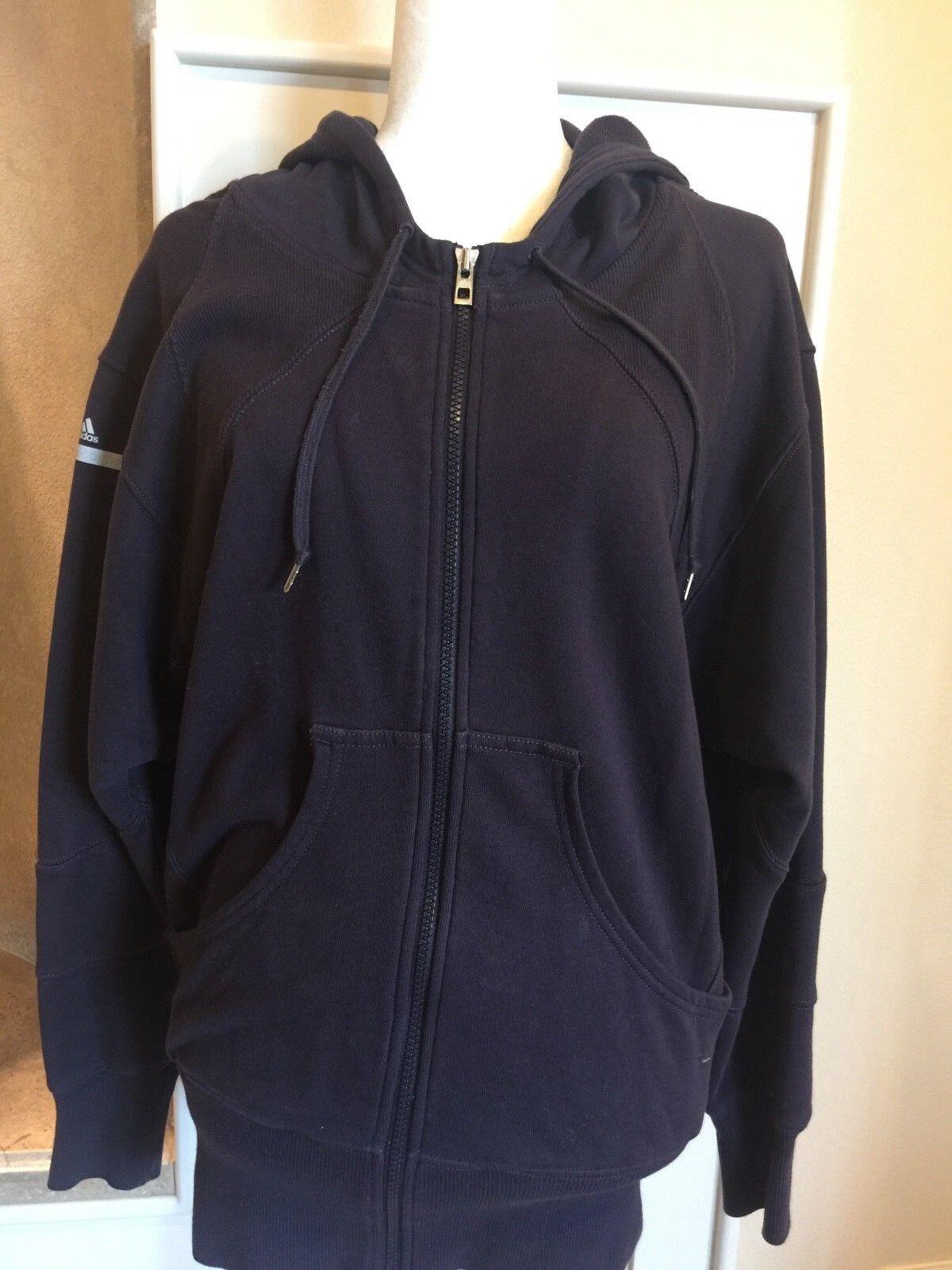 Stella McCartney x Adidas Women's Full Zip Zip Zip up Hoodie Sweater PLUM Size XSMALL de01dd