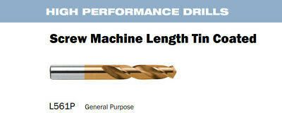 "Length HSS TIN 13//64/"" Parallel Shank Twist Drill 1087715 Nachi 561P Screw Mach"