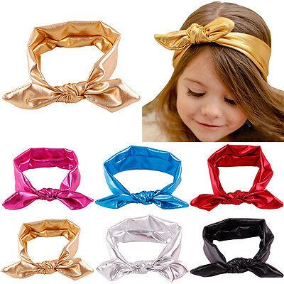Baby Girl Headband Rabbit Bunny Ear Headscarf Gilding Head Wrap Headpiece Turban
