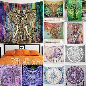 indischer wandbehang hippie elefant mandala boho. Black Bedroom Furniture Sets. Home Design Ideas
