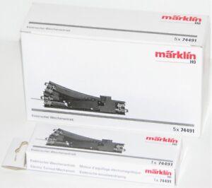 Maerklin-H0-74491-S-Elektrischer-Weichenantrieb-fuer-C-Gleis-5-Stueck-NEU-OVP