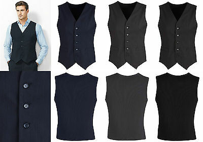 Biz Corporate Mens Peaked Vest with Knitted Back  | Cool Stretch, Suit, Formal