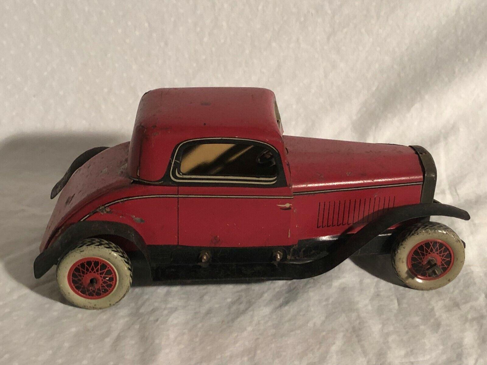 Burnett Spielsachen Blechplatte Aufziehen 1934 Ford Coupe Chad Valley Blech