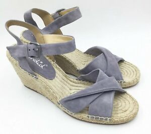 96f6d346941 Details about Splendid Womens Fairfax Espadrille Wedge Sandal Size 10 Gray  Suede NEW