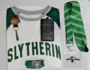 Universal-Studios-Slytherin-Ladies-Long-Sleeve-Shirt-Bracelet-Keychain-amp-More