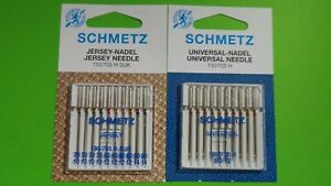 Leder-Jersye-Universal Nadel 20 SCHMETZ  Nadeln 130//705H Flachkolben Nadeln