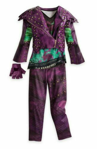 Disney Store Descendants Costume Mal Evie Halloween Dress Faux Leather Jacket