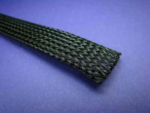 Geflechtschlauch - Gewebeschlauch  8-17mm Schwarz 1 Meter