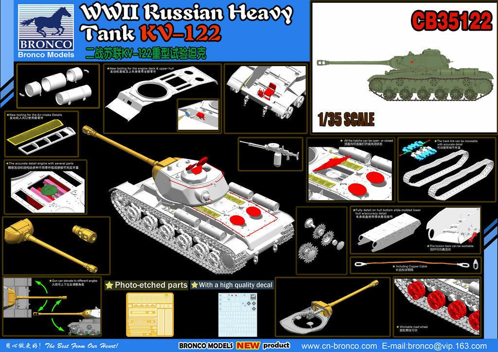 Bronco CB35122 1 35 Russian Heavy Tank KV-122