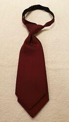 NEU Damen Kurz -Krawatte doppelt  in cherry changé aus 100% Polyester