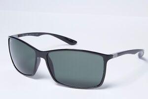 dd91cb6bf7 Ray-Ban Rectangle RB4179 601 71 Black Green Classic Sunglasses 62mm ...