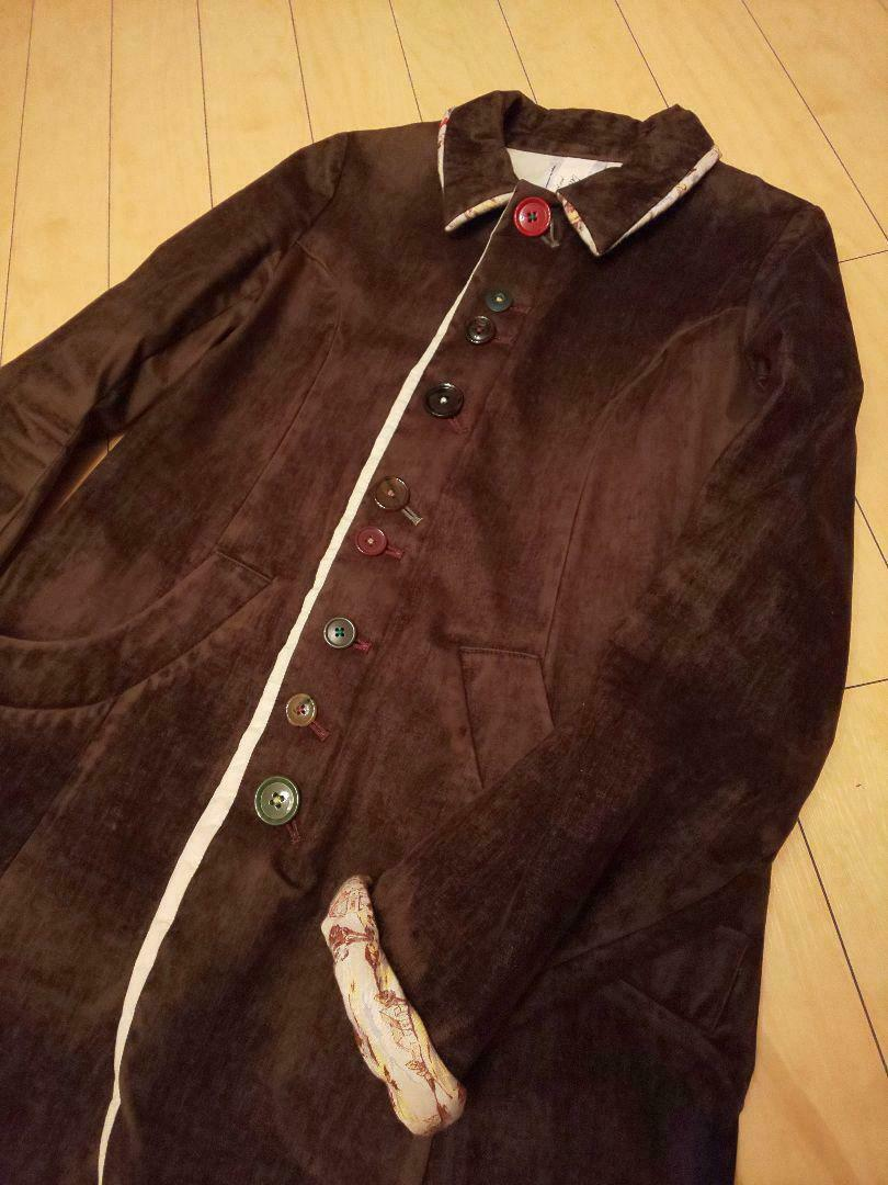 UNDERCOVER but beautiful Button Coat size M Brown… - image 3