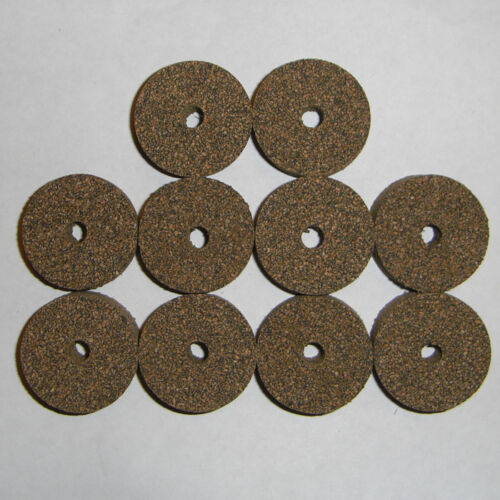 """10 Marron Grain Fin Caoutchouté Caoutchouc Cork Rings 1 1//4/"""" D X 1//2/"""" H X 1//4/"""" I.D."""