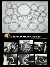 2007 and up BMW MINI Cooper R55 R56 R57 Chrome Interior Dial Trim Kit 27pc. NEW