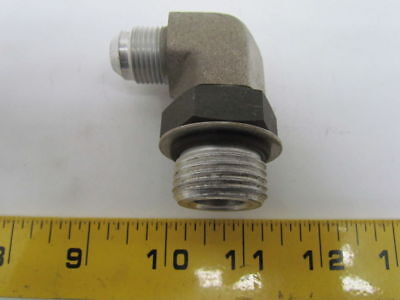 Parker 4-6 F5OX-S JIC to SAE Adapter 1//4 JIC X Size 6 SAE Steel