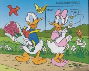 Unmounted Mint Responsible Mali Block111 Never Hinged 1997 Walt-disney-fi Skillful Manufacture complete Issue