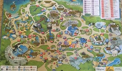 Sea World San Diego 2016 Park Map Show Times Rides Dining New | eBay