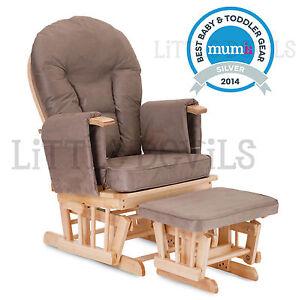 BEECH WOOD MOCHA SUPREMO BAMBINO Nursing Glider Rocking Maternity Chair Sto
