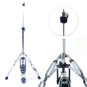 Details about New Drum High Hat Cymbal Stand Double Braced Chrome Parts  Accessories