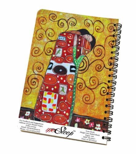 Details about  /Abstract Couple Print Notebook Journal Diary Wire Bound Ruled Paper Sheets