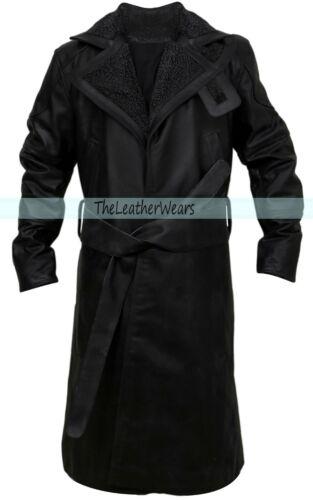 Fur Trench Leather Coat Ryan Gosling Blade Runner 2049 Officer K