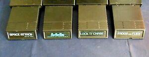 Atari 2600 Game Cartridge Lot Of 4 All Mattel Burgertime Space Attack More