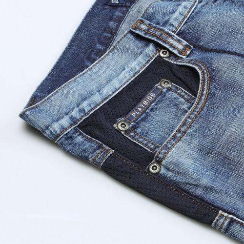 Mens Jeans Shorts Hip Hop Denim Shorts Long Loose Fit Blue Plus Size 32W-46W 13L