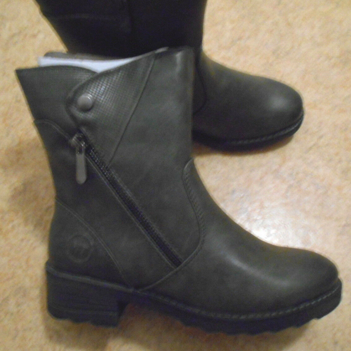 NEUF-TOP-Femmes-Bottines Taille 37 + 38 gris  NEUF  MARCO MARCO MARCO TOZZI dc10f1