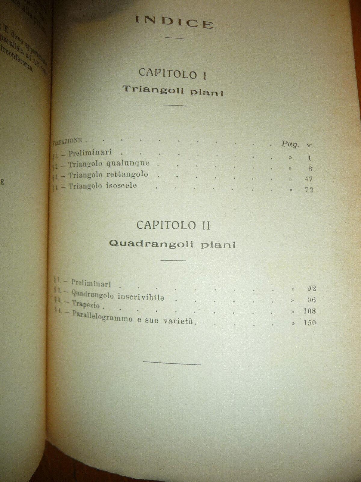 PROBLEMI DI MATEMATICA ELEMENTARE DOTT. ALFREDO BASSI GIUSTI 1926 I^ Ed