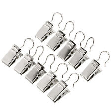 20pcs Steel Shower Window Curtain Rod Clips Clips Hook Rings S6P7