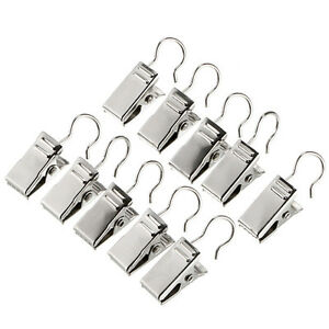 Image Is Loading 10PC Heavy Duty Curtain Clips Window Shower