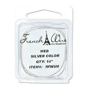 BeadSmith-Silver-or-Gold-Plate-French-Wire-Gimp-Bullion-2-Colours-amp-3-Sizes