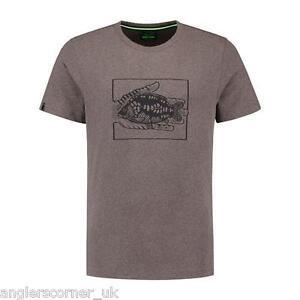 KORDA-CARPA-IN-MANO-T-shirt-Heather-Marrone-ABBIGLIAMENTO-da-pesca
